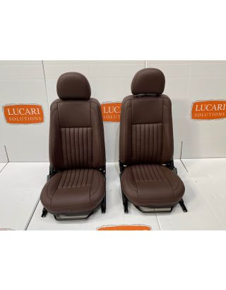 Chocolate fluted Leather Pair seat Retrim Cover Kit Fit Land Rover Defender TDCI
