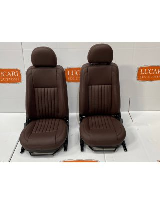 Chocolate fluted leather heated TDCI front seats Fit Land Rover Defender 90/110