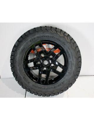 "1X XTR1 gloss black alloy wheels 18"" Black Out BFG KO2 Fits Land Rover Defender  90 110"