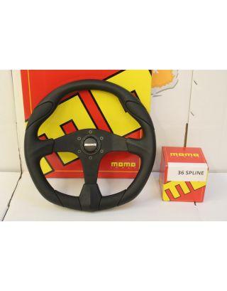 "36 spline MOMO Quark 14"" sport steering wheel Fits Land Rover Defender 90/110"