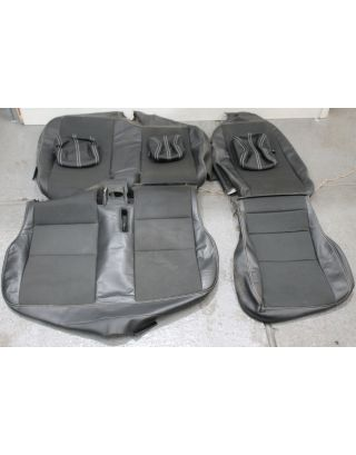 Z) USED XS 1/2 leather Land Rover Defender 110 TDCI middle row 60:40 seat covers