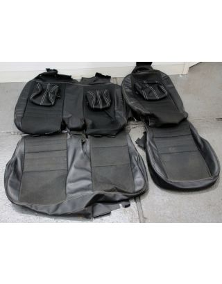 A2) USED XS 1/2 leather Land Rover Defender 110 TDCI 2nd row 60:40 seat covers