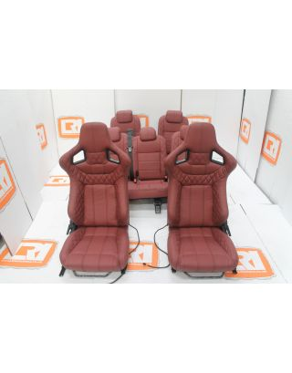 Corbeau Full Leather seats + RETRIM SERVICE For Land Rover Defender 110 TDCI Middle Rear